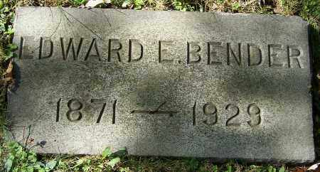 BENDER, EDWARD E. - Stark County, Ohio | EDWARD E. BENDER - Ohio Gravestone Photos