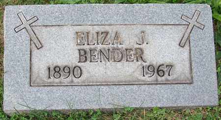 BENDER, ELIZA J. - Stark County, Ohio | ELIZA J. BENDER - Ohio Gravestone Photos