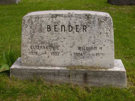 BENDER, WILLIAM H. - Stark County, Ohio | WILLIAM H. BENDER - Ohio Gravestone Photos
