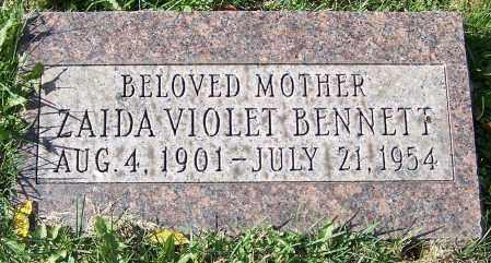 BENNETT, ZAIDA VIOLET - Stark County, Ohio | ZAIDA VIOLET BENNETT - Ohio Gravestone Photos