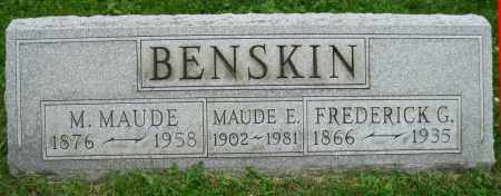MCMURRAY BENSKIN, M. MAUDE - Stark County, Ohio | M. MAUDE MCMURRAY BENSKIN - Ohio Gravestone Photos