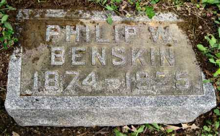 BENSKIN, PHILIP WESLEY - Stark County, Ohio | PHILIP WESLEY BENSKIN - Ohio Gravestone Photos