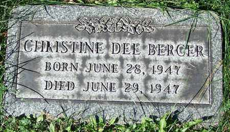 BERGER, CHRISTINE DEE - Stark County, Ohio | CHRISTINE DEE BERGER - Ohio Gravestone Photos