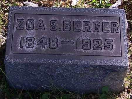 BERGER, ZOA S. - Stark County, Ohio | ZOA S. BERGER - Ohio Gravestone Photos