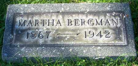BERGMAN, MARTHA - Stark County, Ohio | MARTHA BERGMAN - Ohio Gravestone Photos