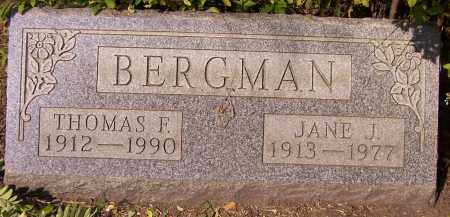 BERGMAN, JANE J. - Stark County, Ohio | JANE J. BERGMAN - Ohio Gravestone Photos