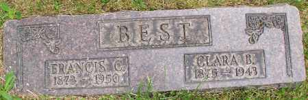 BEST, FRANCIS C. & CLARA B. - Stark County, Ohio | FRANCIS C. & CLARA B. BEST - Ohio Gravestone Photos