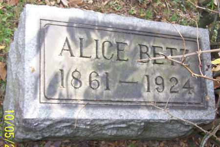 BETZ, ALICE - Stark County, Ohio | ALICE BETZ - Ohio Gravestone Photos