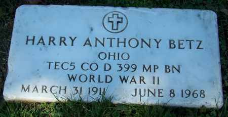BETZ, HARRY ANTHONY - Stark County, Ohio | HARRY ANTHONY BETZ - Ohio Gravestone Photos