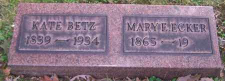 ECKER, MARY E. - Stark County, Ohio | MARY E. ECKER - Ohio Gravestone Photos
