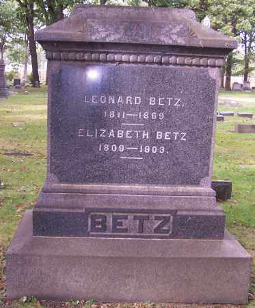 BETZ, ELIZABETH - Stark County, Ohio | ELIZABETH BETZ - Ohio Gravestone Photos