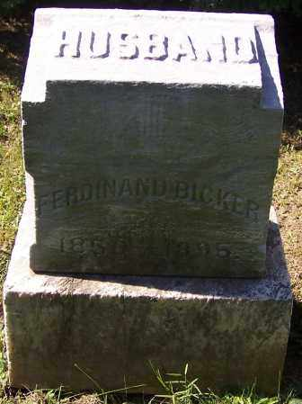BICKER, FERDINAND - Stark County, Ohio | FERDINAND BICKER - Ohio Gravestone Photos