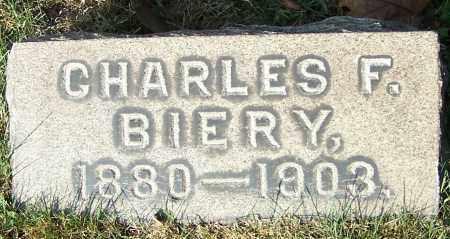 BIERY, CHARLES F. - Stark County, Ohio | CHARLES F. BIERY - Ohio Gravestone Photos