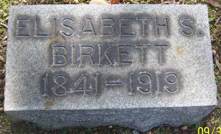 BIRKETT, ELISABETH S. - Stark County, Ohio   ELISABETH S. BIRKETT - Ohio Gravestone Photos