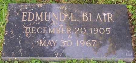 BLAIR, EDMUND L. - Stark County, Ohio | EDMUND L. BLAIR - Ohio Gravestone Photos
