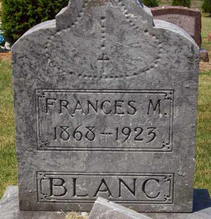 BLANC, FRANCES M. - Stark County, Ohio | FRANCES M. BLANC - Ohio Gravestone Photos