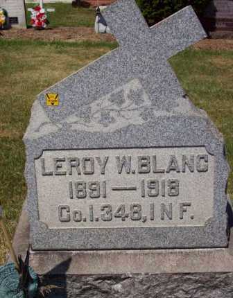 BLANC, LEROY W. - Stark County, Ohio | LEROY W. BLANC - Ohio Gravestone Photos