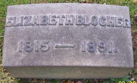 BLOCHER, ELIZABETH - Stark County, Ohio | ELIZABETH BLOCHER - Ohio Gravestone Photos
