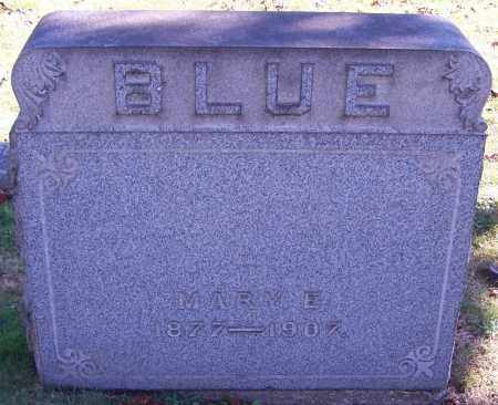 BLUE, MARY E. - Stark County, Ohio | MARY E. BLUE - Ohio Gravestone Photos