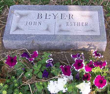 BLYER, ESTHER - Stark County, Ohio | ESTHER BLYER - Ohio Gravestone Photos