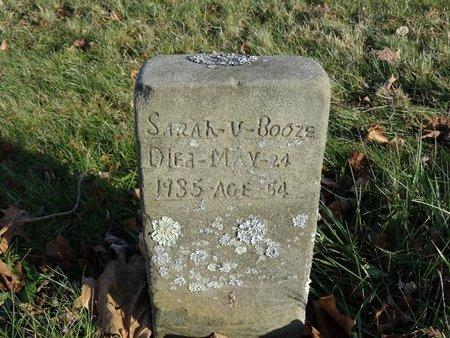 BOOZE, SARAH V. - Stark County, Ohio   SARAH V. BOOZE - Ohio Gravestone Photos