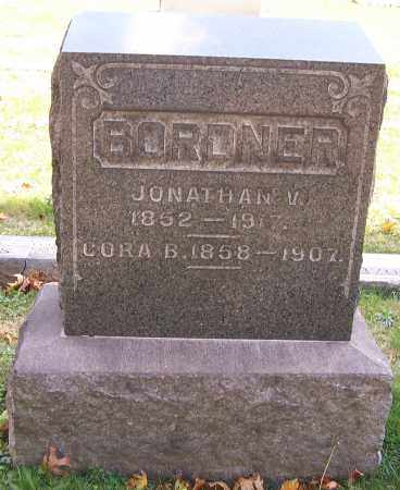 BORDNER, JONATHAIN V. - Stark County, Ohio | JONATHAIN V. BORDNER - Ohio Gravestone Photos