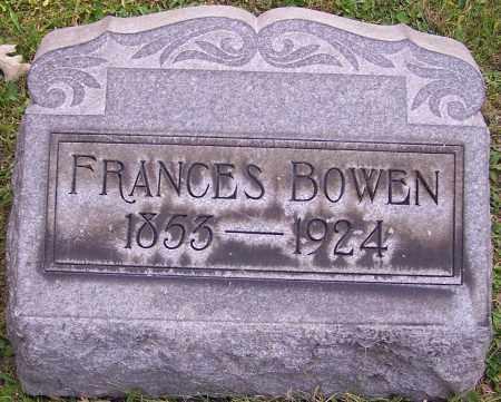 BOWEN, FRANCES - Stark County, Ohio | FRANCES BOWEN - Ohio Gravestone Photos