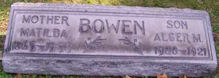 BOWEN, ALGER M. - Stark County, Ohio | ALGER M. BOWEN - Ohio Gravestone Photos