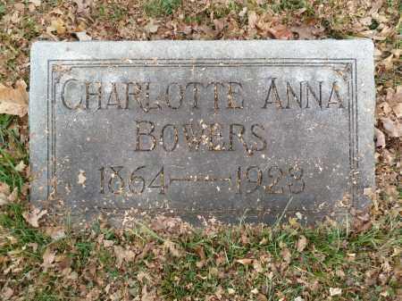 BOWERS, CHARLOTTE ANNA - Stark County, Ohio | CHARLOTTE ANNA BOWERS - Ohio Gravestone Photos