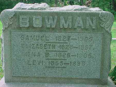 BOWMAN, LEVI - Stark County, Ohio | LEVI BOWMAN - Ohio Gravestone Photos