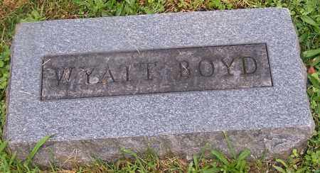 BOYD, WYATT - Stark County, Ohio | WYATT BOYD - Ohio Gravestone Photos