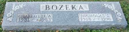 BOZEKA, CHARLOTTE A. - Stark County, Ohio | CHARLOTTE A. BOZEKA - Ohio Gravestone Photos