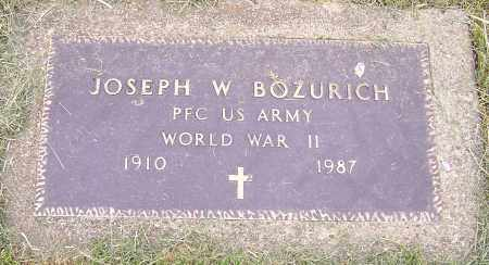 BOZURICH, JOSEPH W. - Stark County, Ohio | JOSEPH W. BOZURICH - Ohio Gravestone Photos