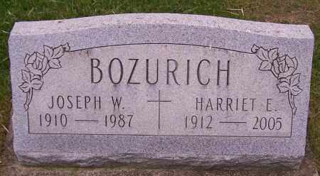 BOZURICH, HARRIET E - Stark County, Ohio | HARRIET E BOZURICH - Ohio Gravestone Photos