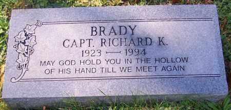 BRADY, CAPT. RICHARD K. - Stark County, Ohio | CAPT. RICHARD K. BRADY - Ohio Gravestone Photos
