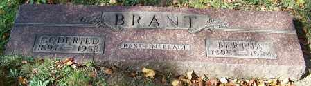 BRANT, GODFRIED - Stark County, Ohio | GODFRIED BRANT - Ohio Gravestone Photos
