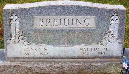 BREIDING, MATILDA M. - Stark County, Ohio | MATILDA M. BREIDING - Ohio Gravestone Photos