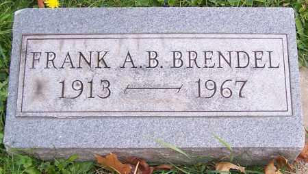 BRENDEL, FRANK A.B. - Stark County, Ohio | FRANK A.B. BRENDEL - Ohio Gravestone Photos