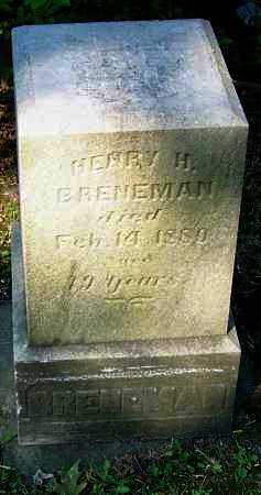 BRENEMAN, HENRY H. - Stark County, Ohio | HENRY H. BRENEMAN - Ohio Gravestone Photos