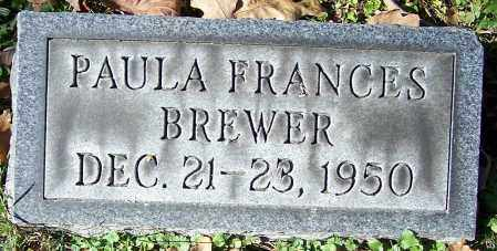 BREWER, PAULA FRANCES - Stark County, Ohio | PAULA FRANCES BREWER - Ohio Gravestone Photos