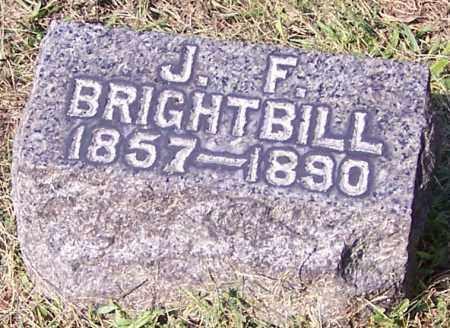 BRIGHTBILL, J.F. - Stark County, Ohio | J.F. BRIGHTBILL - Ohio Gravestone Photos