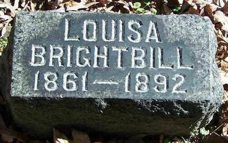 BRIGHTBILL, LOUISA - Stark County, Ohio | LOUISA BRIGHTBILL - Ohio Gravestone Photos