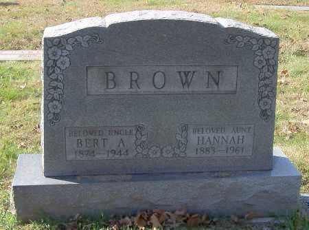BROWN, BERT A. - Stark County, Ohio | BERT A. BROWN - Ohio Gravestone Photos