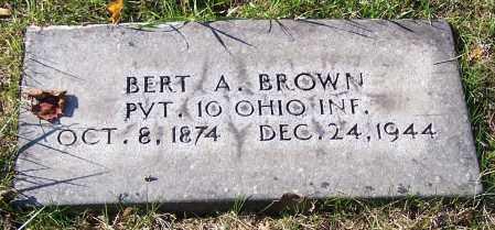 BROWN, BERT A.  (MIL) - Stark County, Ohio | BERT A.  (MIL) BROWN - Ohio Gravestone Photos