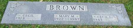 BROWN, MARY M. - Stark County, Ohio | MARY M. BROWN - Ohio Gravestone Photos