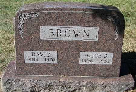 BROWN, ALICE B. - Stark County, Ohio | ALICE B. BROWN - Ohio Gravestone Photos