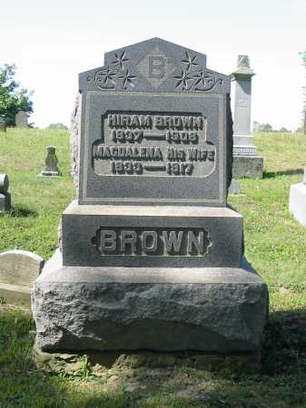 BROWN, HIRAM - Stark County, Ohio | HIRAM BROWN - Ohio Gravestone Photos