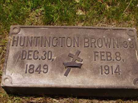 BROWN, HUNTINGTON - Stark County, Ohio | HUNTINGTON BROWN - Ohio Gravestone Photos