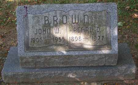 BROWN, PEARL D. - Stark County, Ohio | PEARL D. BROWN - Ohio Gravestone Photos