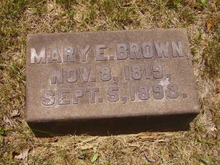 BROWN, MARY E. - Stark County, Ohio | MARY E. BROWN - Ohio Gravestone Photos